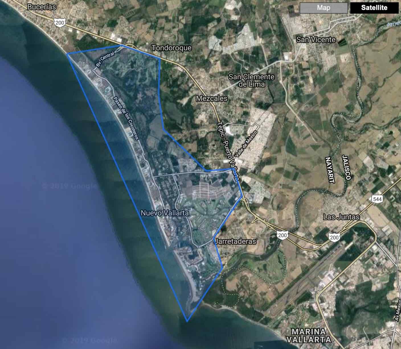 Map Overlay Nuevo Vallarta & Flamingos